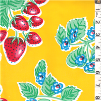 *1 YD PC--Yellow Floral Oilcloth