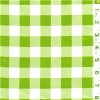 *1 3/8 YD PC--Green Check Oilcloth