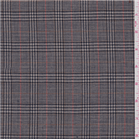 *2 1/2 YD PC--Tan/Navy Glen Plaid Wool Suiting