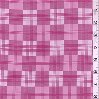 *3 1/2 YD PC--Raspberry Plaid Jacquard