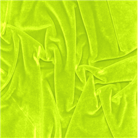 *2 3/8 YD PC--Neon Green Stretch Velvet