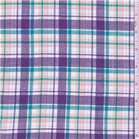 *3 YD PC--Purple Plaid Shirting