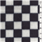 *2 3/8 YD PC--Black/White Domino Fleece