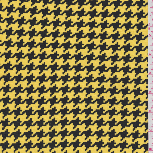 Yellow Houndstooth Double Knit 26477 Fashion Fabrics