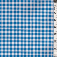 *1 YD PC--Bright Blue/White Check Oilcloth