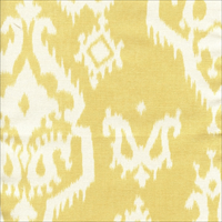 *3 YD PC--Raji Saffron Yellow Cotton Ikat Drapery Fabric by Premier Prints