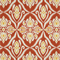 *1 YD PC--Jaipur Coral Orange Ikat Printed Drapery Fabric