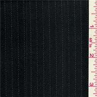*2 5/8 YD PC--Blue/Tan Stripe Wool Jacketing