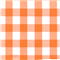 *5/8 YD PC--Orange 1 Inch Gingham