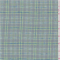 *4 7/8 YD PC--Grey/Lime Plaid Flannel