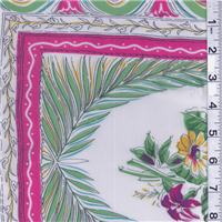 *1/2 YD PC--Green/Pink Chiffon