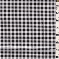 *1 3/4 YD PC--Black/White Check Oilcloth