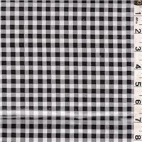 *5 YD PC--Black/White Check Oilcloth
