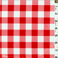 *2 1/2 YD PC--Red Check Oilcloth