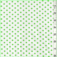 *2 5/8 YD PC--White/Green Polka Dot