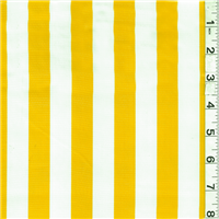 *1 YD PC--Yellow/White Oilcloth