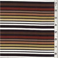 *2 1/2 YD PC--Black/Brown Multi Stripe Swimwear