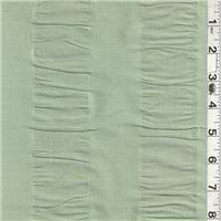 *1 YD PC--Sage Silk Dupioni Seersucker