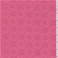 *2 3/4 YD PC--Coral Pink Damask Jacquard