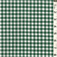 *5/8 YD PC--Green Check Oilcloth