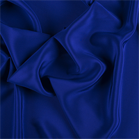 Blue Silk Crepe de Chine