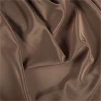 Brown Silk Crepe de Chine