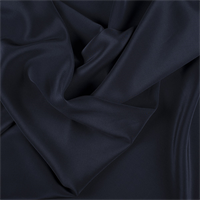 Navy Blue Silk Crepe de Chine