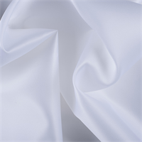 White Silk Satin Organza