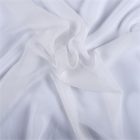 White Wide Silk Chiffon