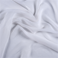 White Crinkled Silk Chiffon
