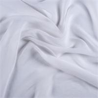 Ivory Crinkled Silk Chiffon