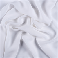 White Silk Double Georgette