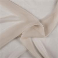 Pale Peach Silk Chiffon