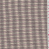 *1 YD PC--Tan/Pink Plaid Wool Suiting