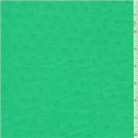 *3 1/2 YD PC--Spring Green Dotted Swiss Lawn