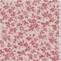 *8 YD PC--Tan/Red Floral Canvas