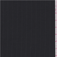 *1 YD PC--Black Wool Flannel Suiting