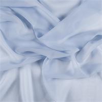Sky Blue Silk Chiffon