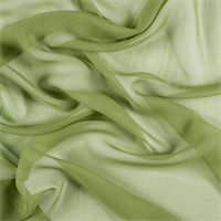 Apple Green Silk Chiffon