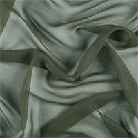 Olive Green Silk Chiffon