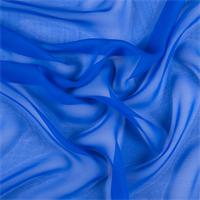 Sapphire Blue Silk Chiffon