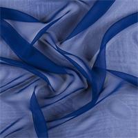 Blue Silk Chiffon