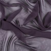 Aubergine Silk Chiffon
