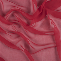 Bright Red Silk Chiffon