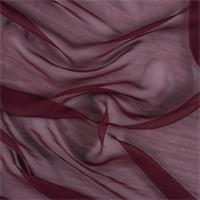 Burgundy Silk Chiffon