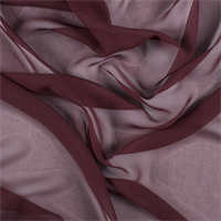 Dark Brick Red Silk Chiffon