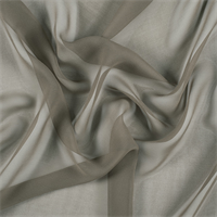 Dark Olive Silk Chiffon