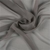 Dark Taupe Silk Chiffon
