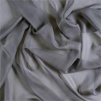 Silver Gray Silk Chiffon
