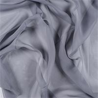 Gray Silk Chiffon